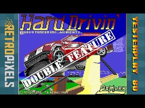 #Retropixels + #YesterPlay: Hard Drivin' (C64, Tengen, 1989 / MS-DOS, Tengen, 1990)