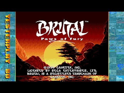 #YesterPlay: Brutal - Paws Of Fury (Mega Drive, Gametek, 1994)