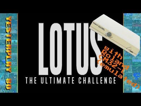 Lotus: The Ultimate Challenge (MS-DOS) mit emuliertem CM-32L-Sound (in DOSBox ECE)