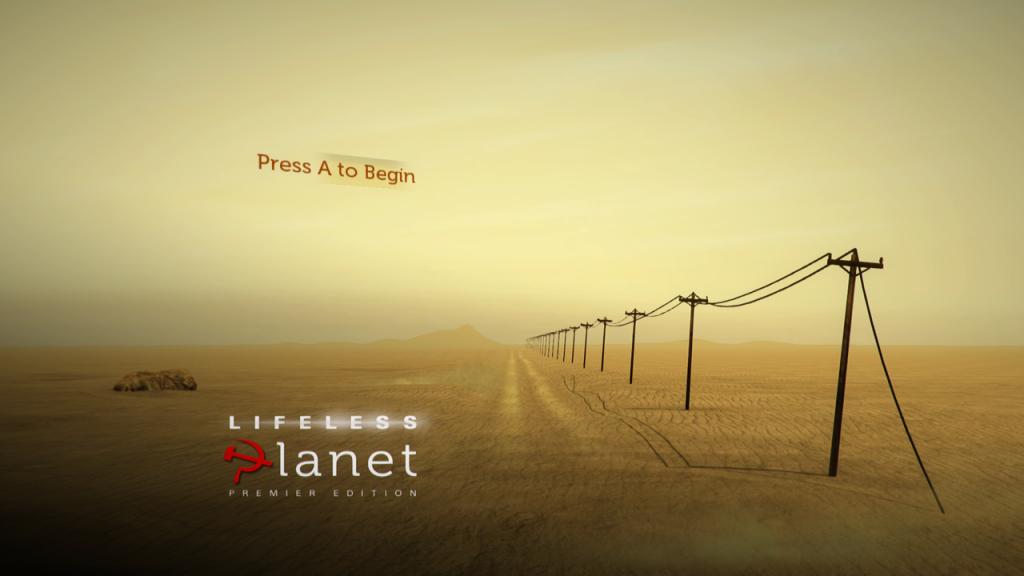 Lifeless Planet - Titelbildschirm