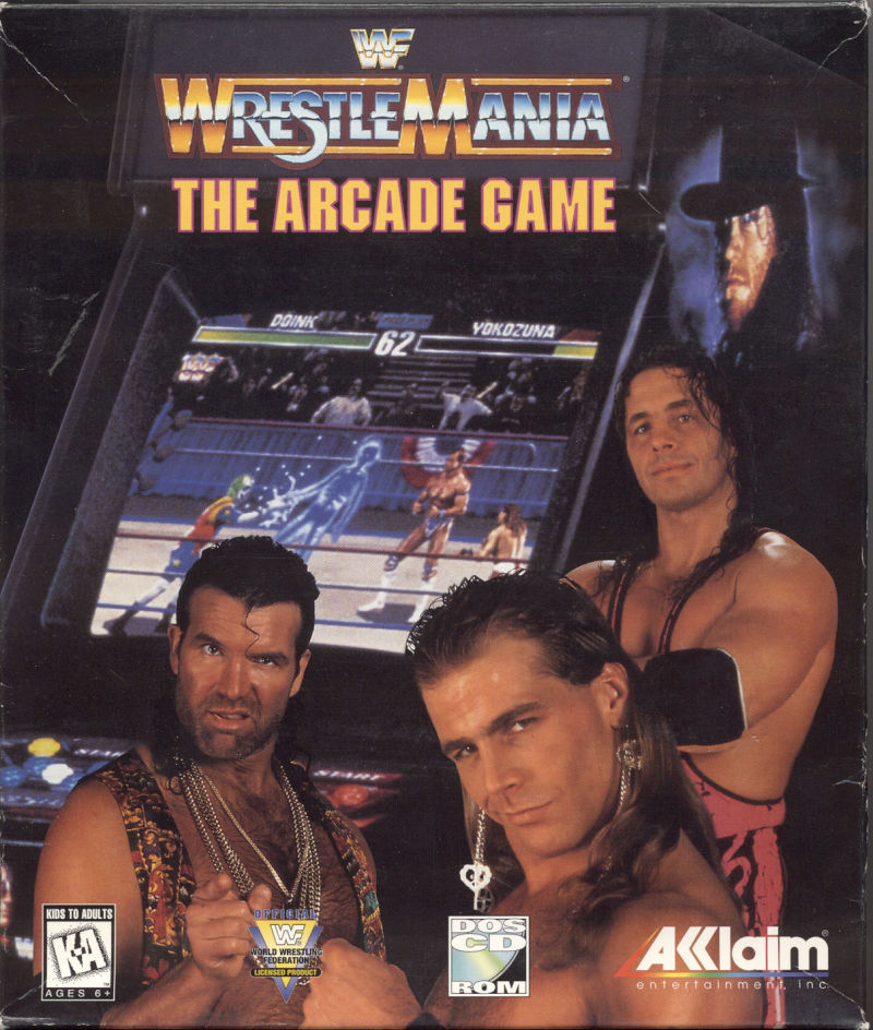 WWF WrestleMania DOS Front Cover