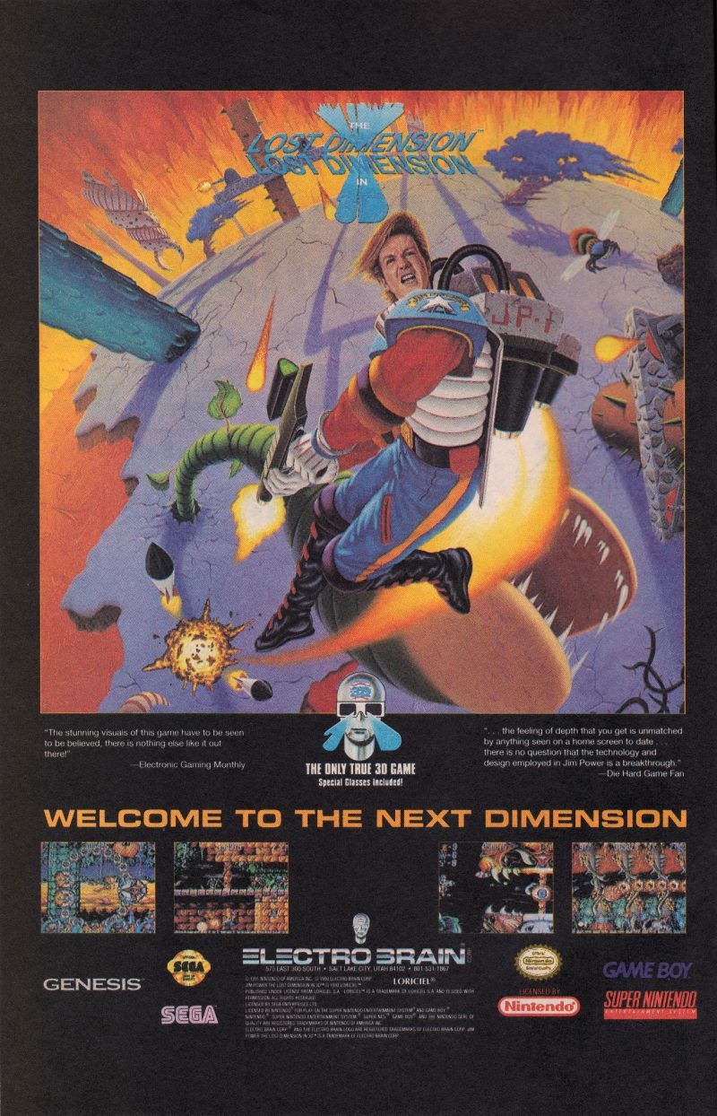 Jim Power: The Lost Dimension in 3D Magazine Advertisement Page 6